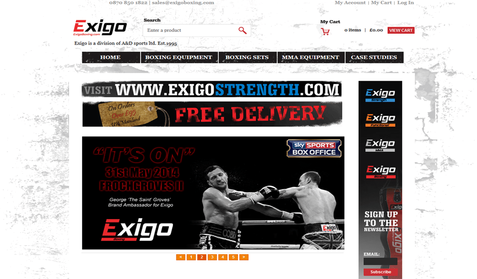 Exigo Boxing Launched